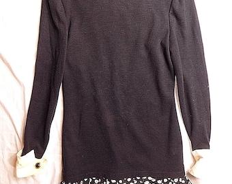 LOUIS FERAUD Women's 4 long sleeve mid length dress(vintage) Fast Shipping #D21