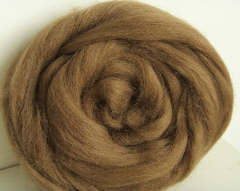 25g wool felting or spinning Merino carded worsted color Brown
