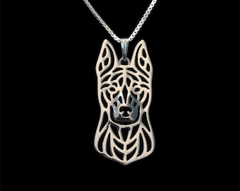 Dutch Shepherd - sterling silver pendant and necklace.