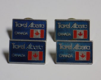 Vintage Travel Pins - Travel Alberta Canada - Set of 4