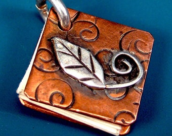 CS1 Copper Book Charm by Nina Gibson