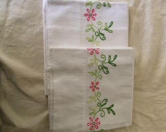 Pair of Standard Sized Pillowcases