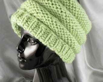 HALF PRICE SALE Instant Digital File pdf download Knitting Pattern -  Superfast Tier  Beanie Hat pdf download knitting pattern