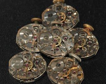 Vintage Antique Tiny  Watch Movements Steampunk RT 54