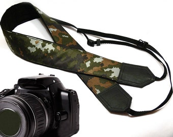 Camouflage Camera Strap. DSLR / SLR Camera Strap. Men's accessories by InTePro