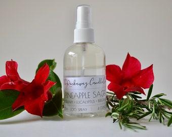 Pineapple Sage Room Spray, Bathroom Spray, Linen Spray, Body Spray, Handmade, Organic, Wholesale, Bulk