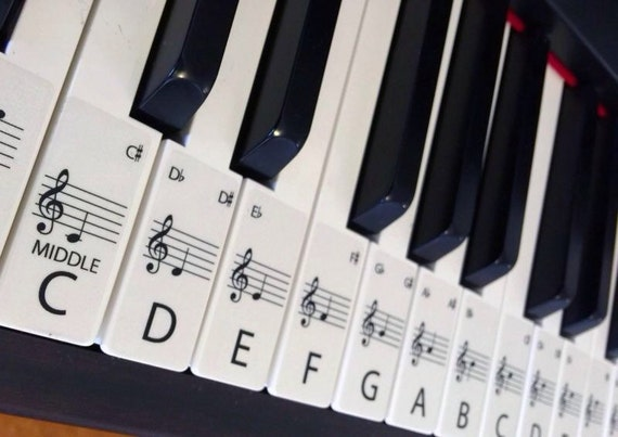 It is a picture of Piano Key Stickers Printable with regard to beginner