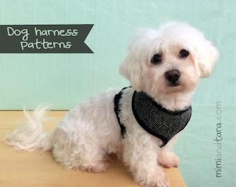 Dog Harness Pattern Size S, Vest Harness, Dog Vest, Sewing Pattern, Dog Clothes patterns