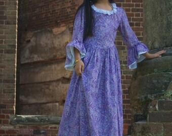 Custom Girls Colonial Dress sizes 3T-8