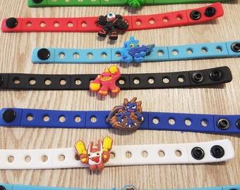 10  Skylanders  Silicone Bracelets Party Favors
