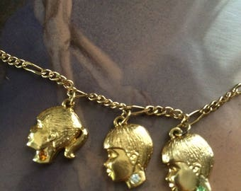 Vintage Novelty Children Birthstone Necklace