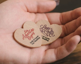 Wedding Favors - Personalized Wooden Hearts, personalized wedding favors, party favors, personalized party favors, heart wedding favors