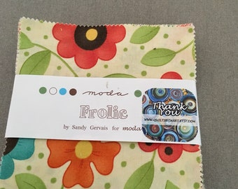 Frolic by Moda charm pack 5 inch squares 42 squares