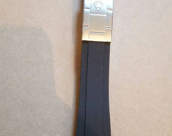 20 mm replacement rubber strap with clasp fits to rolex  watches