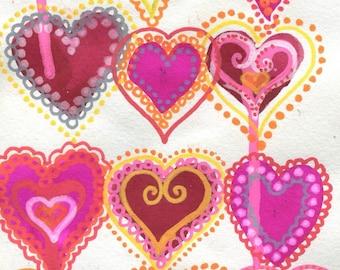 Neon Valentine 5x7 art print