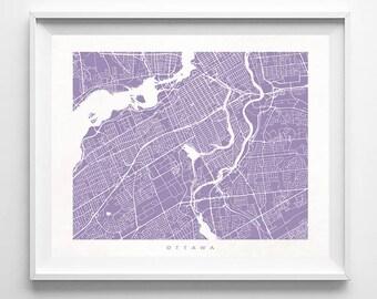 Ottawa Map, Canada Print, Ottawa Poster, Canadian Art, Office Wall Art, Valentines Decorations, Bathroom Wall Art, Home Goods, Valentines