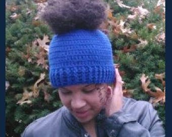 Ponytail Hat   (Crochet Pattern)