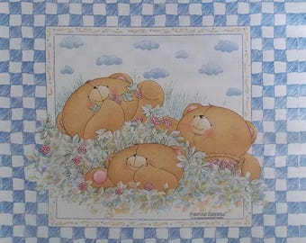 Cotton fabric 3 bears 50 x 64 cm