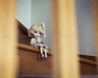 "Tirage simple 10x15cm ""Mon ourson"" - Pullip Isul Dal photographie, doll art collection, impression deco no BJD no Blythe"