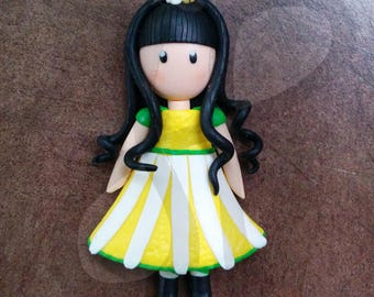 Refrigerator magnets with DAISY doll