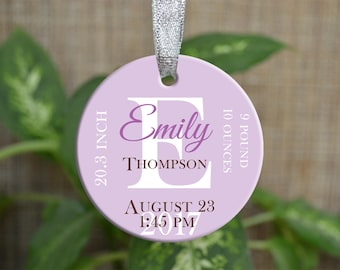 Personalized Christmas Ornament, Baby First Christmas ornament, Custom Ornament, Newborn baby gift, penguin ornament, Christmas gift. o087