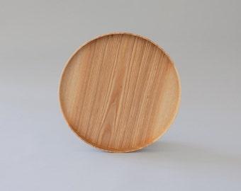 Eshly Tray Wood * Ø 35 cm/ 13.77 inch * stackable * pure ash wood no glue