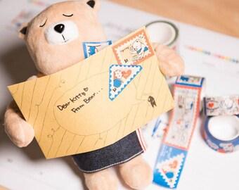 Diary Scrapbook Adhesive Masking Deco Washi Tape - Manual Factory Hello Kitty