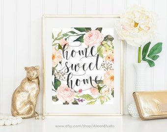 Home Sweet Home,Quotes,Printable wall art,Print Wall Decor,Digital Download,Wall Art Quote,Dorm Decor,Instant Download,#WA002