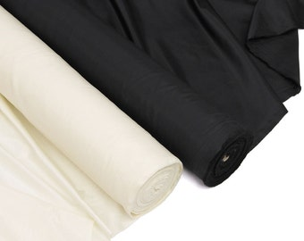 Black and Cream Lining Fabric for Pants, Skirts and Dresses, Sold by the Yard