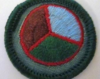 """Vintage Intermediate Girl Scout Badge """"Conservation"""" circa 1960's"""
