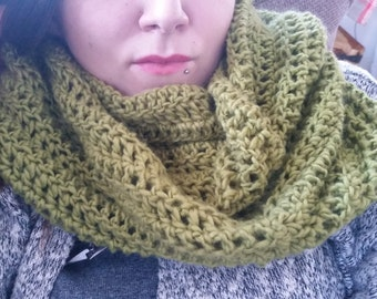 Hand Crocheted Super Soft Infinity Scarf