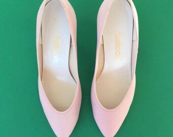 90s Powder Pink Balloons Heels