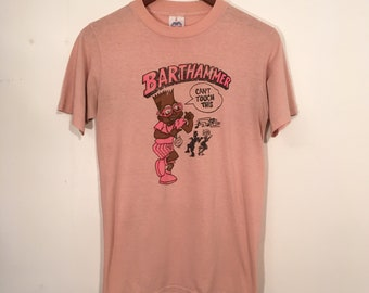 Vintage 80's Barthammer Simpsons Mc Hammer Bootleg Shirt Small