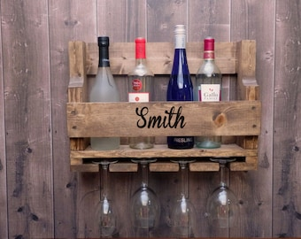 Customized Pallet Wine Rack