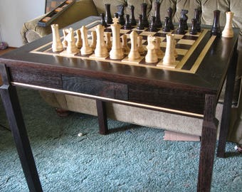 Custom Chess Table by Jim Arnold