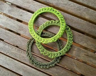 BRACELETS TRIO of green