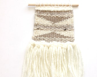 Mini Tapestry Weaving, Handwoven Wall Hanging, Bohemian Decor