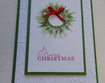 Wreath with Berries Christmas Card