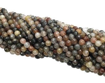 1Full Strand Multicolor Tourmaline Faceted Beads, 6mm 8mm 10mm Wholesale Tourmaline Gemstone For Jewelry Making