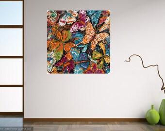 Butterfly art, 30 x 30 Modern wall art, garden Butterflies, Nature art, metal prints,  Johno Prascak, Johnos Art Studio