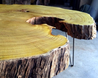 Custom Reclaimed Live Edge Slab Wood Furniture