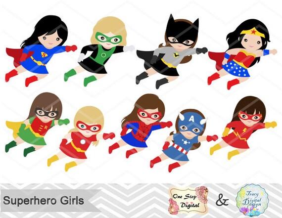 27 super hros filles digital clipart super hros clip art fille super hros clip art petite fille super hros des cliparts super hros clip art 00186 - Super Heros Fille
