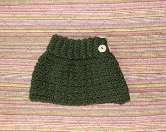Handmade Crochet Finleigh Cape Charisma Yarn, Forest Infant Size 6-12 mths