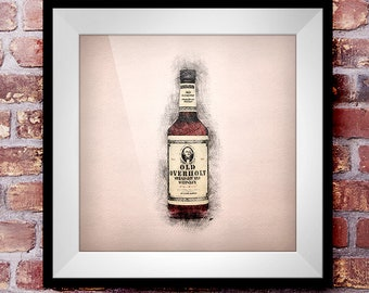 Old Overholt Straight Rye - Crosshatch Whisky Wall Art