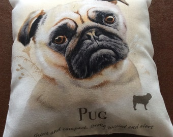 Pug mini cushion