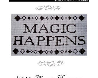 PDF E pattern emailed Magic Wicca Cross Stitch Pattern Sampler 111