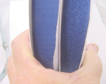 """hook + loop tape blue both sides sew on Perfect brand 1"""" x 25yds 4534P."""