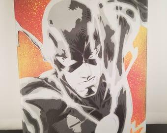 Flash Spray Painting (dc comics)