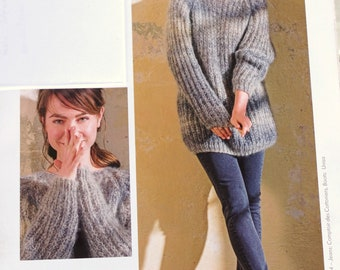 Hand Knit: Alpaca sweater made of cuddly yarn