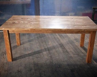 Solid Wood Farmhouse Table  | Farmhouse Dining Table | Farmhouse Kitchen Table | Built to Order | Rustic Harvest Table